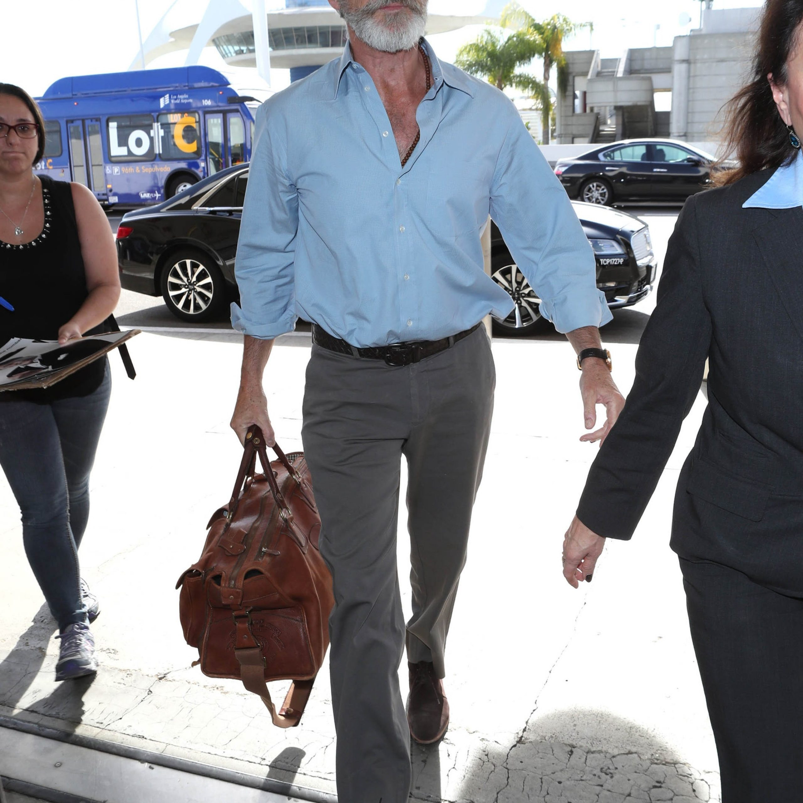 Pierce Brosnan - Traveling in style - by MOTA